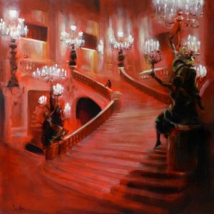 Agnès Guillon - Le grand escalier en rouge